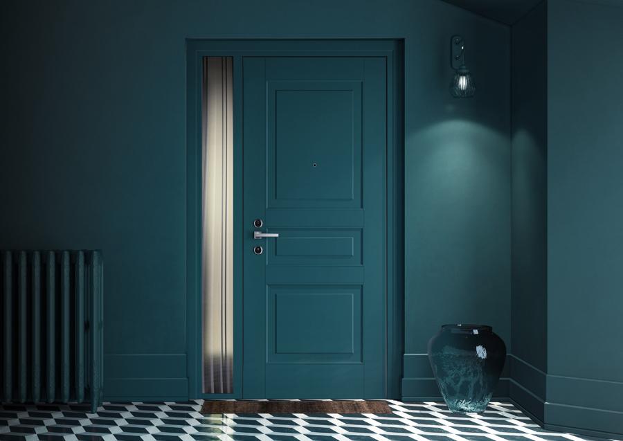 rivestimento porta blindata londra verde