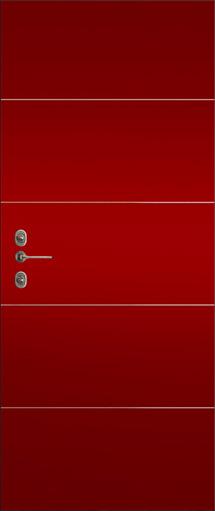 rivestimento porta blindata parigi rossa