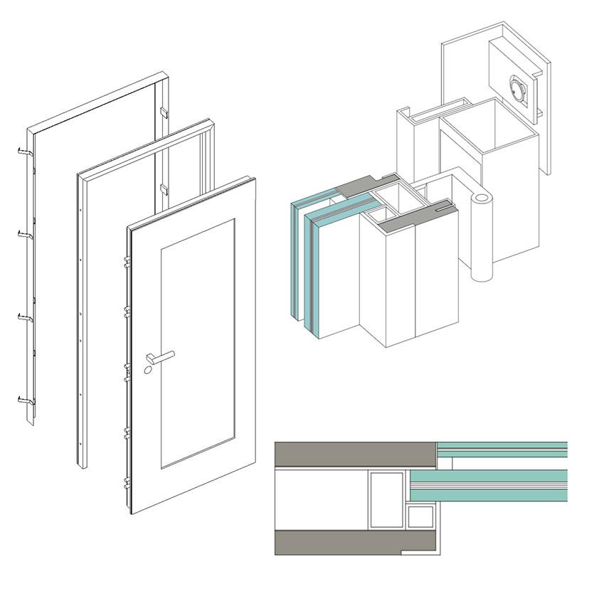 Porta blindata 16.16 Cerniera a Scomparsa Glass 1