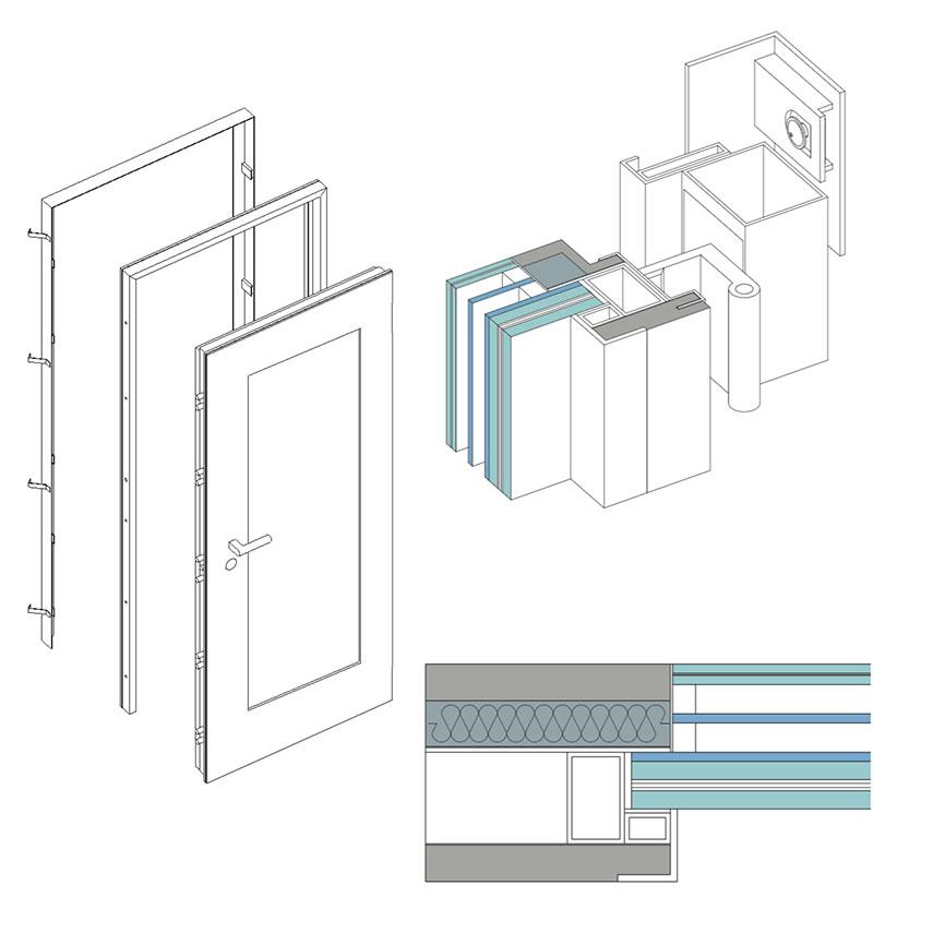 Porta blindata 36.16 Cerniera a Scomparsa Glass 1